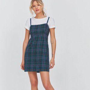 Urban Outfitters Green Plaid Mini Dress (NWT)